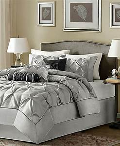 King, Size, Bedding, Romantic, Comforter, Sets, Gray, Grey