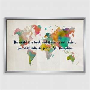 travel map framed canvas print world market With map wall art