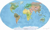 Vector Map World Relief Continents Political   One Stop Map