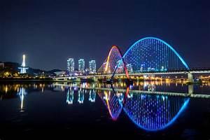 Expo Bridge In Daejeon, Korea. Stock Image