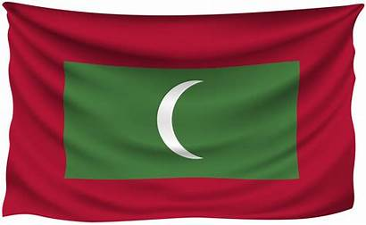 Flag Maldives Wrinkled National Flags Clipart Yopriceville