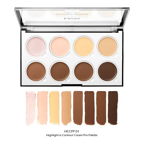 nyx highlight contour cream pro palette hccpp