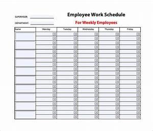 employee work schedule template 10 free word excel With weekly work schedule template free download