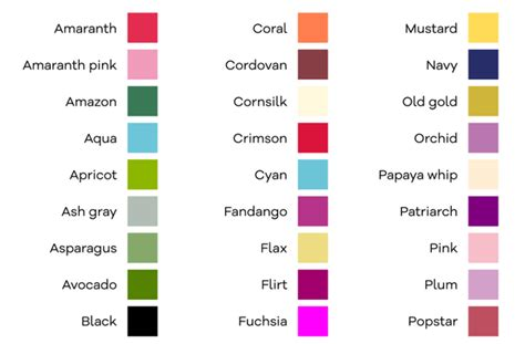 colors that start with e can you name a color that doesn t the letter e in