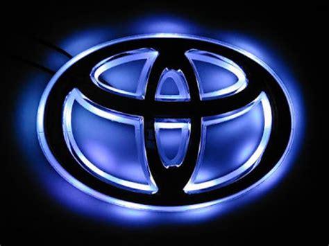 cool toyota logos the ultimate toyota wish website illuminated toyota logo