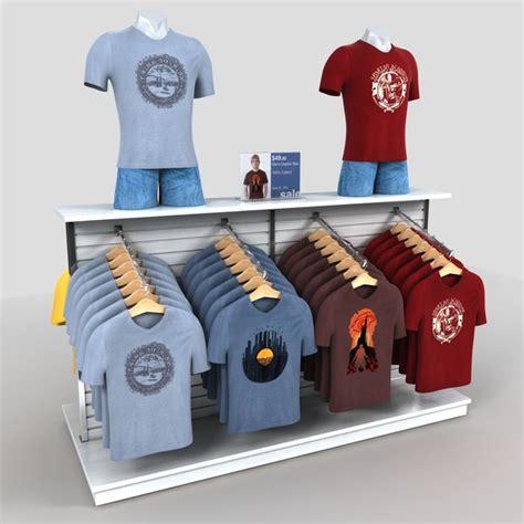 3d clothing rack mens t shirts model