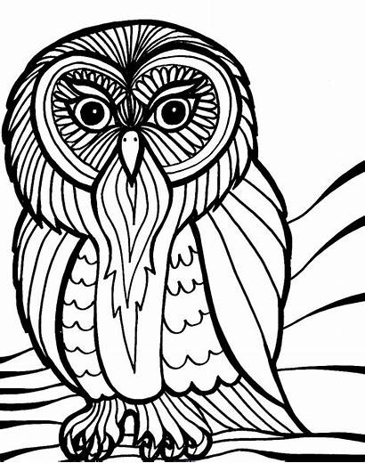 Coloring Halloween Scary Pages Owl Creepy Printable