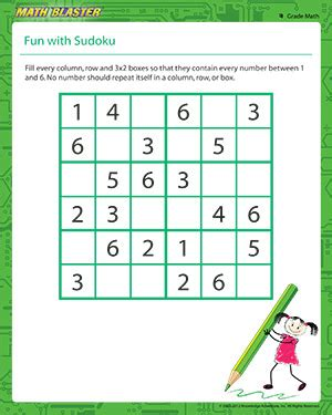 with sudoku sudoku worksheet for 4th grade math
