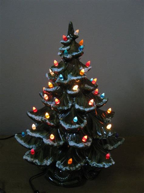 table top christmas trees with lights vintage large 19 quot ceramic lighted christmas tree 1970