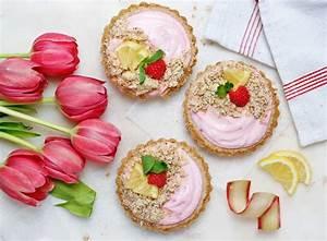 Rhubarb-raspberry Healthy Breakfast Tarts  Gluten-free  Dairy-free  Vegan  Workout Food