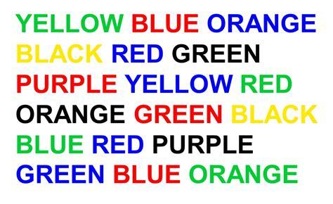 stroop color word test waarom is de stroop taak zo lastig kijk
