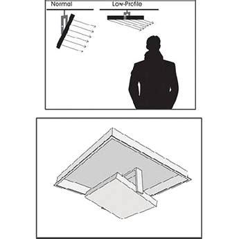 litepanels drop ceiling accessory kit for low profile 1 x
