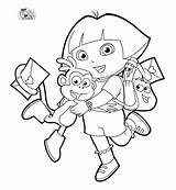 Butka Dory Walentynki Kartki Walentynkowe Dora Coloring Explorer Cool Kolorowanka sketch template