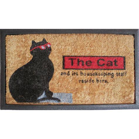 cat doormats rubber and coir the cat door mat temple webster
