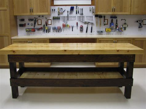 How To Build A Garage Work Bench (with Pictures) Wikihow