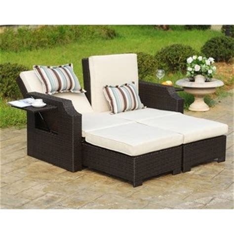 outdoor sofa with chaise overstock com this outdoor sofa chaise lounger is a