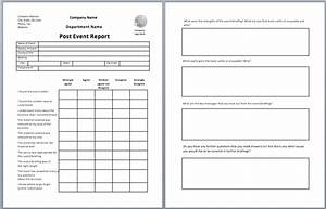 event brief template - post event report template printable templates