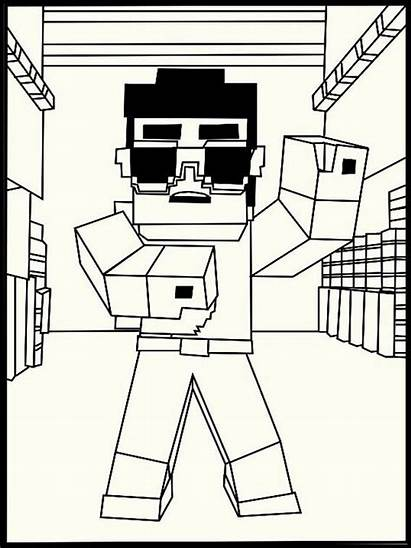 Minecraft Coloring Pages Printable Sheets Elvis Colouring
