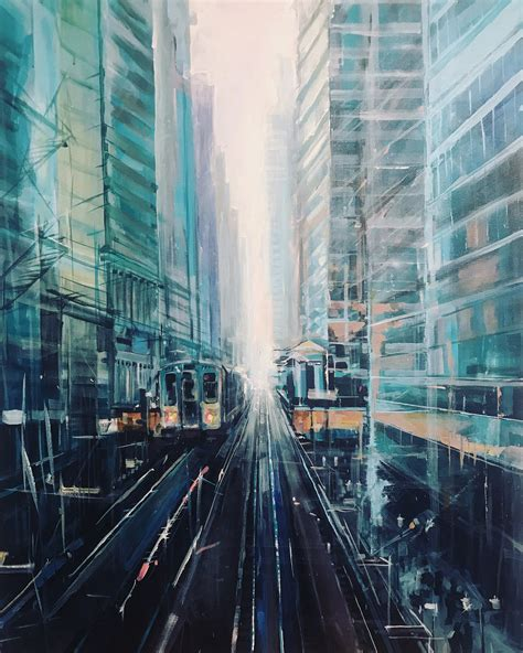 plein air oil paintings  chicago architecture parks