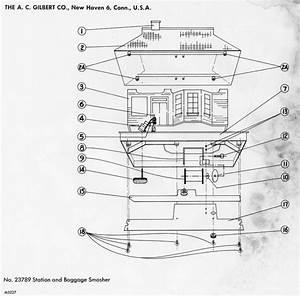 American Flyer Baggage Smasher 23789 Parts List  U0026 Diagram