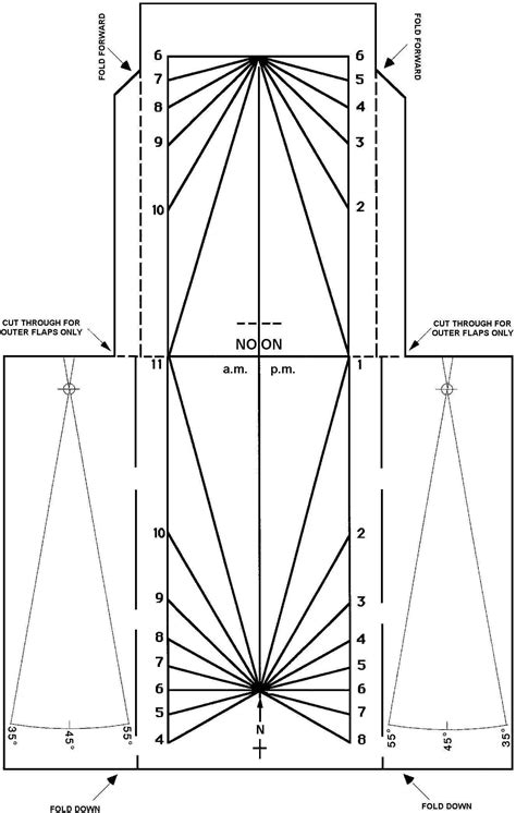sundial template sundials on the five sundial projects for you to make
