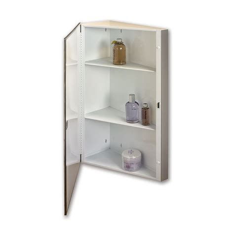 mirrored medicine cabinet lowes shop corner 16 in x 30 in rectangle surface