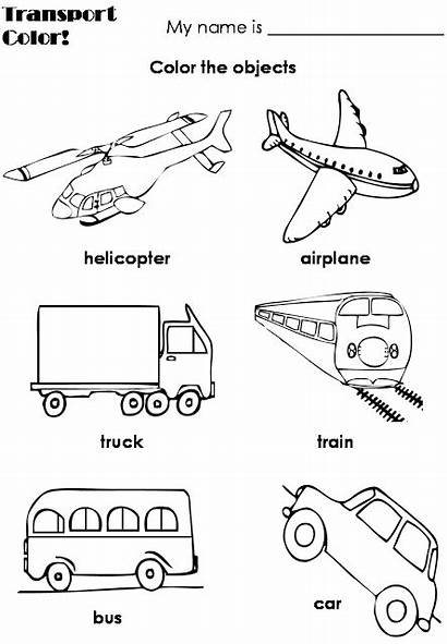 Transportation Means Preescolar Actividades Worksheet Preschool Coloring