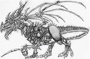 How to draw dragon robot