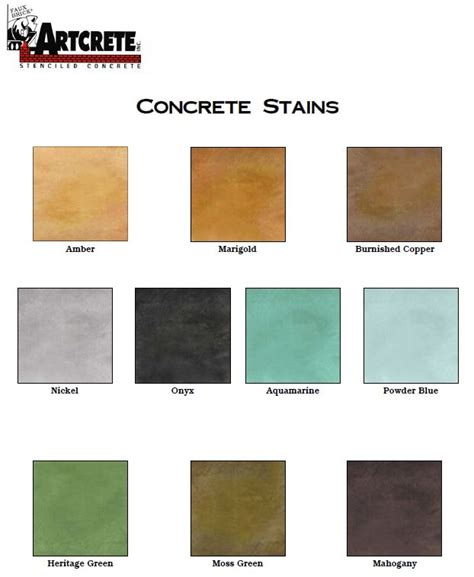 great coloring options for concrete with artcrete inc s