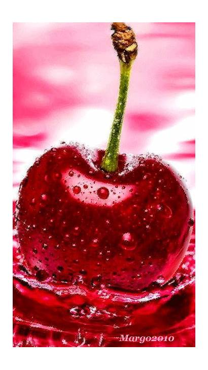 Apple Iphone Fruits Mobile Nature Aesthetic Cherry