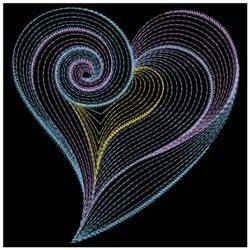 Neon Light Heart Embroidery Designs Machine Embroidery