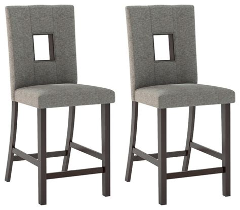 bistro dining chairs grey sand fabric set of 2