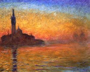 Tramonto a Venezia quadro di Claude Monet