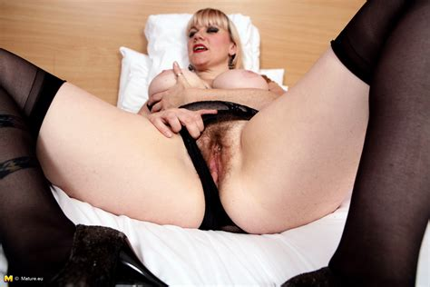 Hairy British Housewife Getting Very Naughty Granny Seduction
