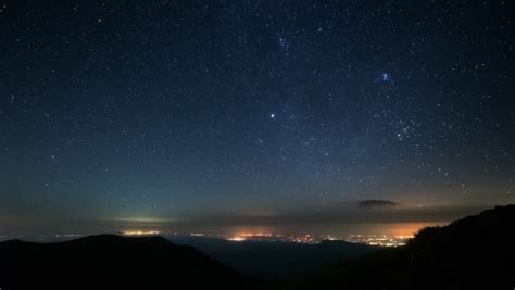 Star Trails Over The Mountains Night Sky Image Free