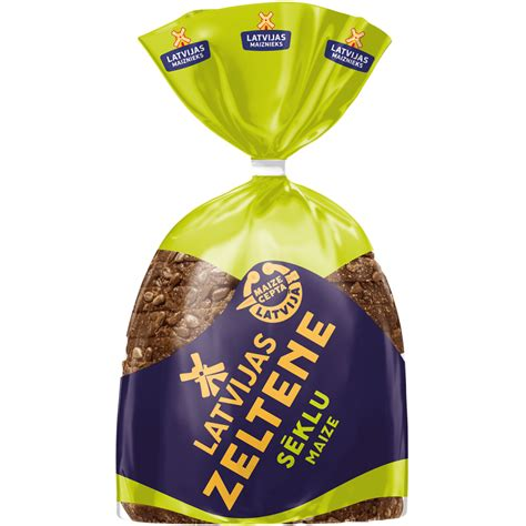 LATVIJAS ZELTENE sēklu maize   Latvijas Maiznieks