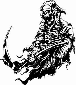 Grim Reaper Scythe Dr Death Monster Car Truck Window ...