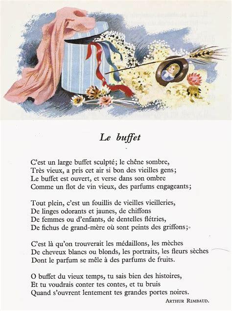 Le Buffet  Arthur Rimbaud  Poésie Pinterest