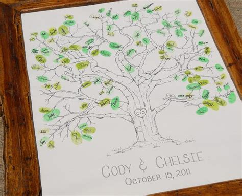 items similar to wedding tree thumbprint guest book x large size fits 230 and up thumbs on etsy