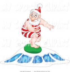 Surfing Santa Clip Art
