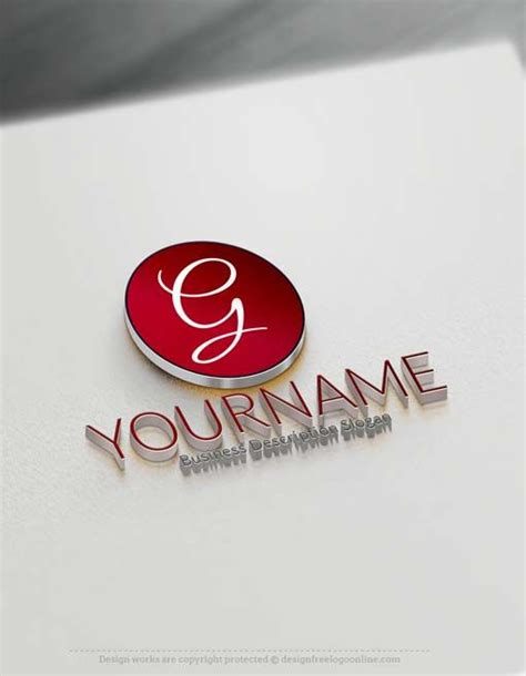 Name Template Maker by Free Logo Maker Simple Logo Design Free Logo