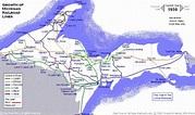 Map Upper Peninsula Michigan - HolidayMapQ.com
