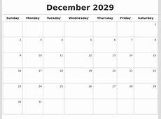 December 2029 Calendar Maker