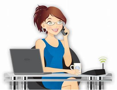Phone Business System Answering Landline Receptionist Call