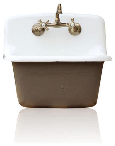 porcelain laundry utility sink shop houzz re deep utility sink antique style cast iron