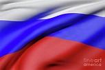 Russian Federation flag waving Digital Art by Enrique ...