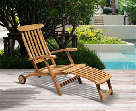 halo teak steamer chair with wheels brass fitting free