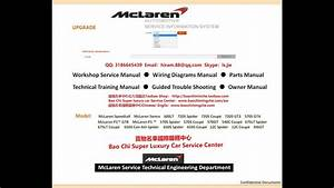 Full Set Mclaren Workshop Manual  Service Manual  Repair