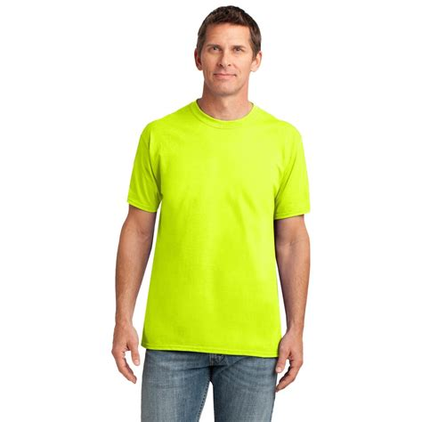 safety green color gildan 42000 performance t shirt safety green