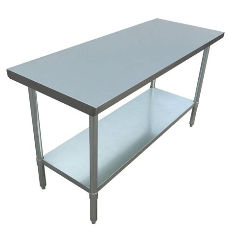 stainless steel table l excalibur stainless steel kitchen utility table